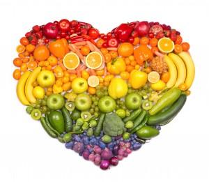 לב מפירות וירקות